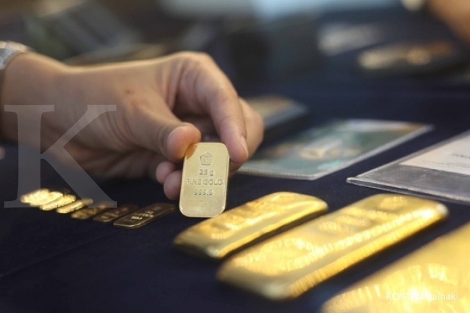 Harga jual emas Antam turun Rp 1.000