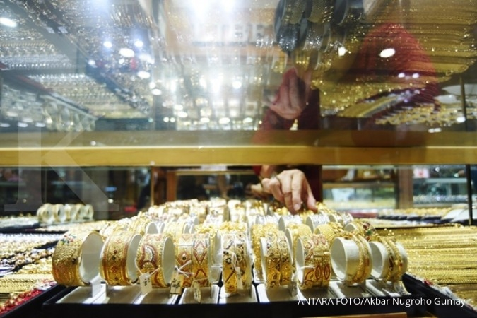 ANTM Pasar spot turun, harga emas Antam melandai