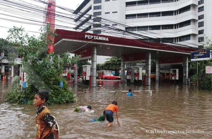 Pagi ini, banjir landa beberapa lokasi di Jakarta