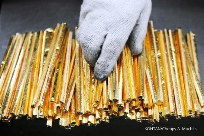Harga emas Antam terbang Rp 9.000/gram
