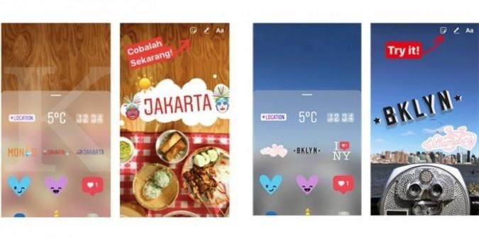 Ada sticker bertema Jakarta di Instagram