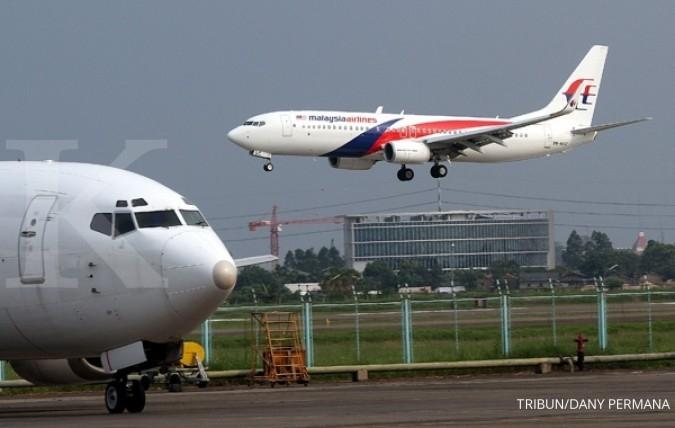 Malaysia Airlines pecah ban di Bandara Soetta