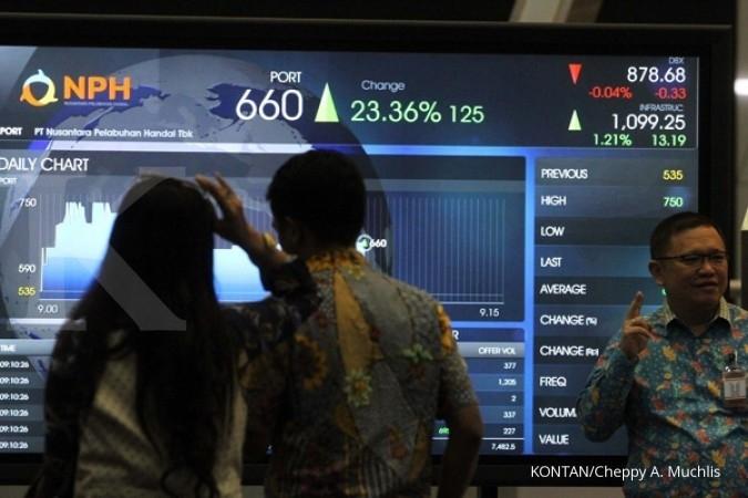 Bursa saham mencetak rekor tertinggi