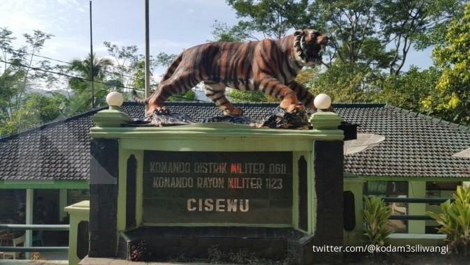 Kisah patung harimau lucu yang jadi viral