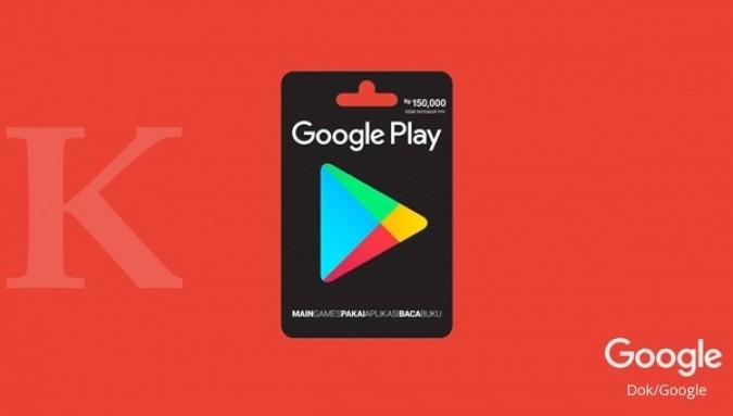 Kartu Hadiah Google Play sudah tersedia