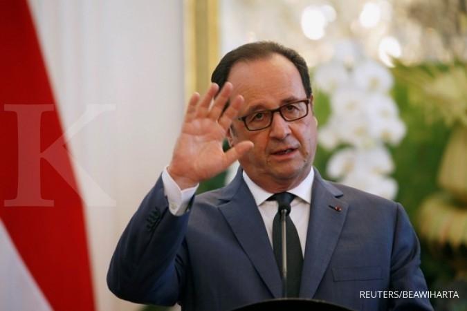 Hollande: Inagurasi Macron digelar Minggu
