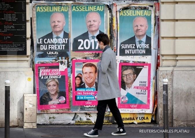 Pemilu Prancis juga unggulkan euro atas sterling