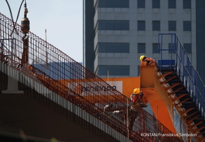 Kontrak emiten konstruksi masih lambat