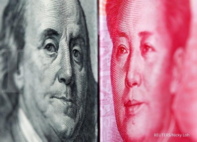 Cadangan devisa China naik tipis