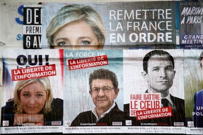 Hasil pemilu Prancis perkuat euro atas dollar AS