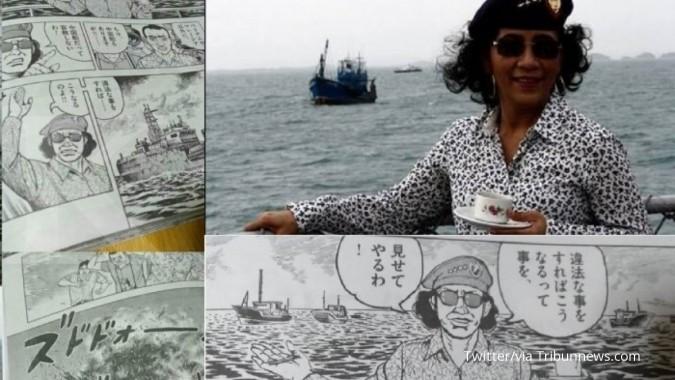 Karakter Menteri Susi muncul di komik Jepang