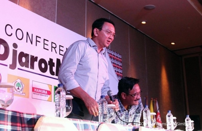 Ahok concedes defeat to his rival