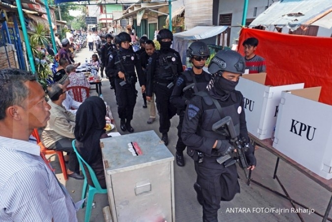 Polisi amankan 40 orang diduga relawan Anies Sandi