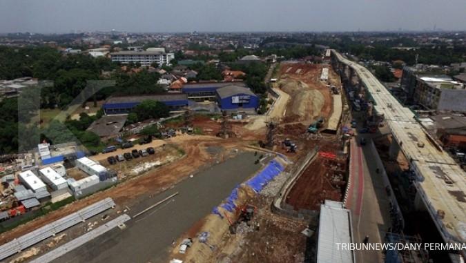 Proyek infrastruktur masih tersendat