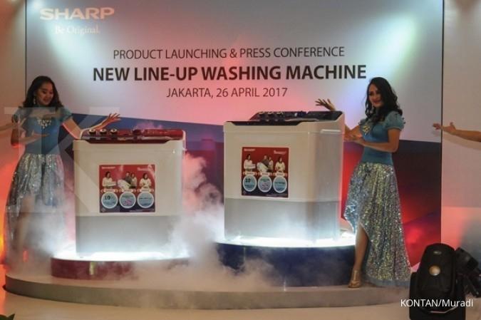 Sharp mengincar ceruk pasar mesin cuci jumbo