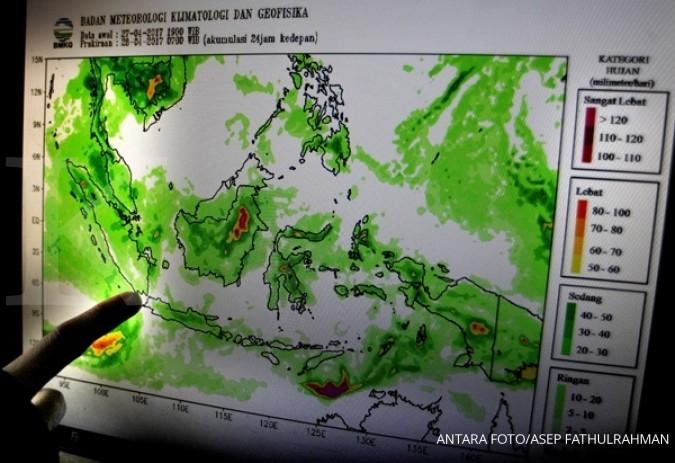 Hujan petir akan melanda Jaksel, Depok, dan Bogor