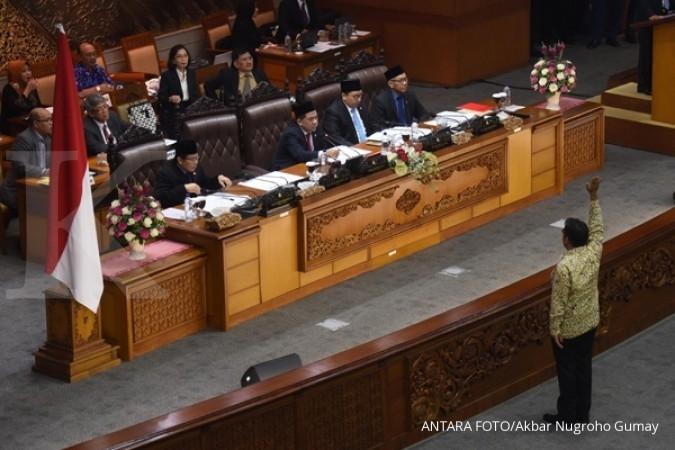 Rapat paripurna Hak Angket KPK di DPR ricuh