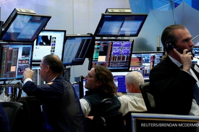 Wall Street longsor di tengah gejolak Trump
