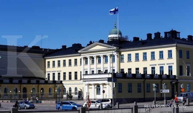 Istana kepresidenan Finlandia. Finlandia adalah negara paling bahagia di dunia