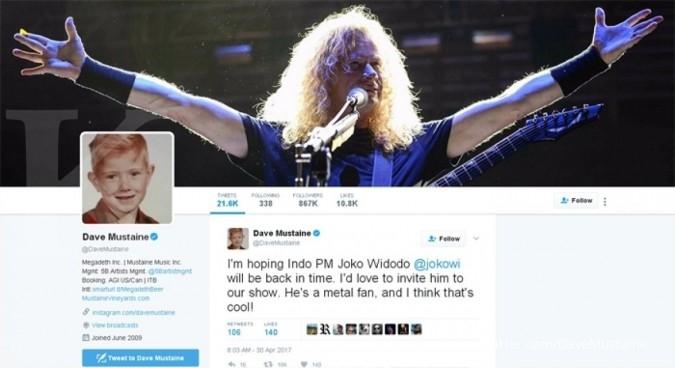 Megadeth undang Jokowi tonton Hammersonic 2017