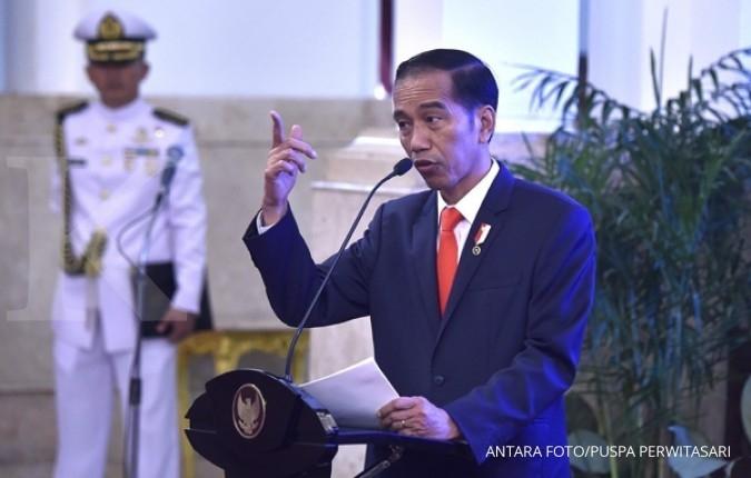 Jokowi saksikan latihan perang ke Natuna
