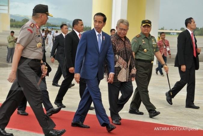Ke Malang, Jokowi saksikan pengukuhan Ma'ruf Amin