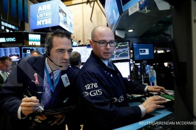 Bursa AS rekor jelang pengumuman tenaga kerja