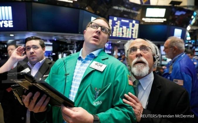 Bursa AS memerah setelah minyak kembali drop