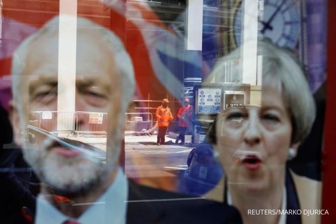 Exit poll Inggris: May gagal raup suara mayoritas