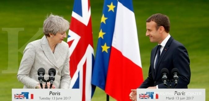 Macron: Pintu masih terbuka bagi Inggris di UE
