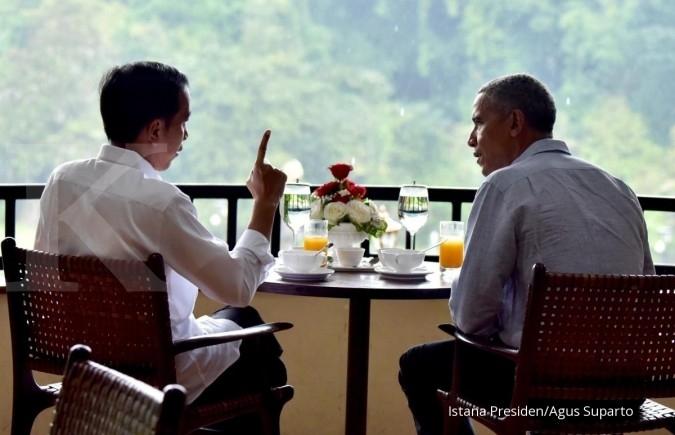 Jokowi dan Obama ditemani teh hangat serta bakso