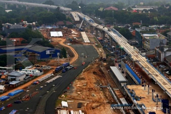 1 lajur kendaraan dibuka di area MRT Lebak Bulus