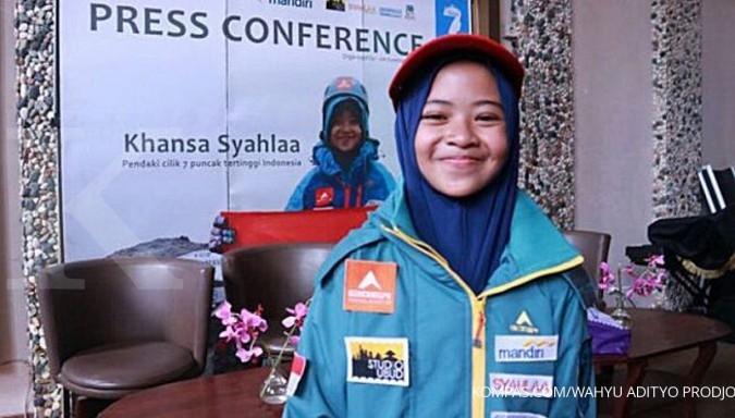 Khansa, pendaki cilik penakluk puncak tertinggi