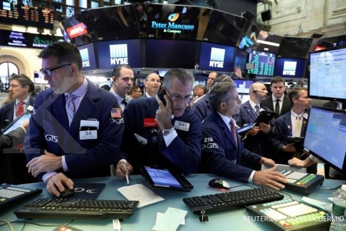 Wall Street memerah terbebani laporan GE