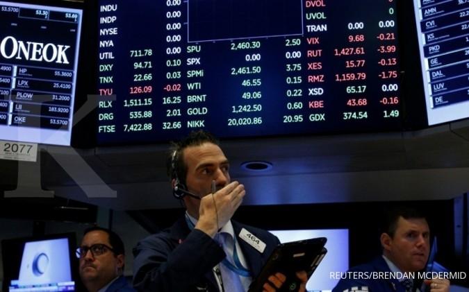 Mayoritas bursa Wall Street ditutup turun