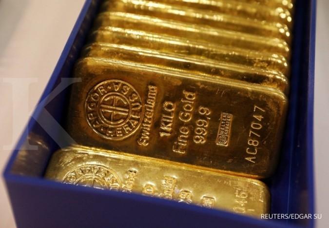 Harga emas melaju