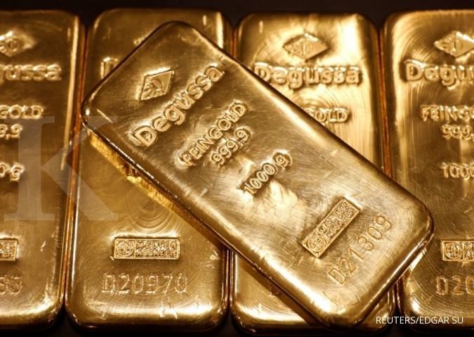 Harga emas loyo jelang pertemuan FOMC