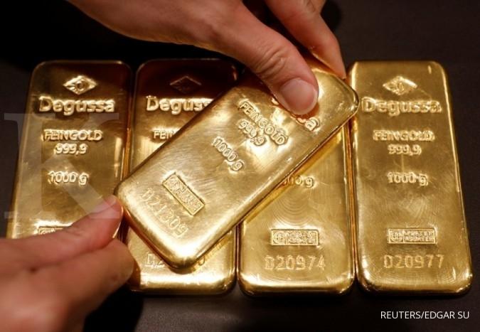 Harga emas melaju di tengah pelemahan dollar AS