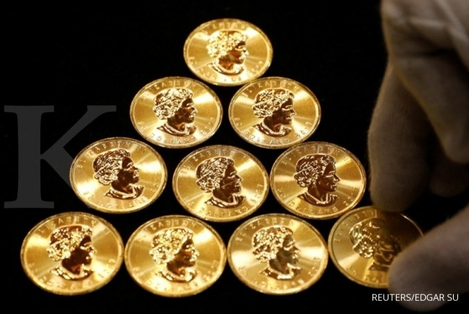 Pelemahan dollar AS mendorong emas sepekan ini