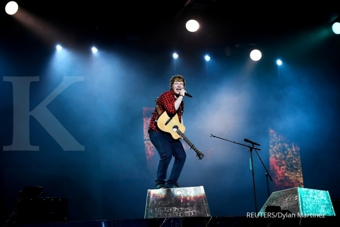 Ed Sheeran penyanyi paling populer di Spotify