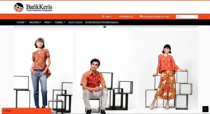 Pekan depan, Batik Keris jualan di lapak online
