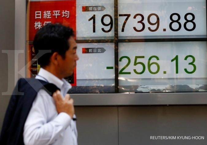 Bursa Asia kompak melemah
