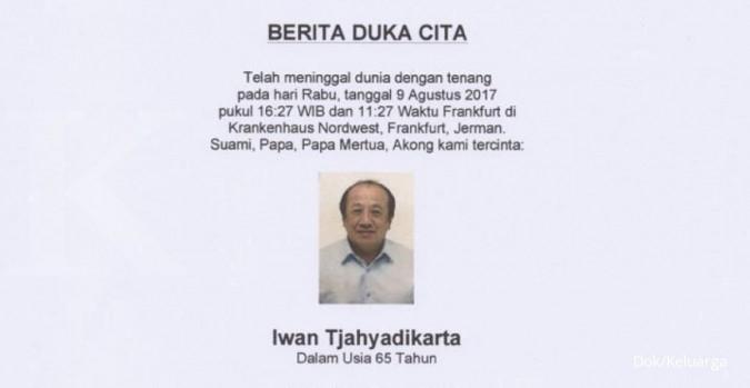 Iwan Tjahyadikarta, 1 dari 9 naga Indonesia wafat