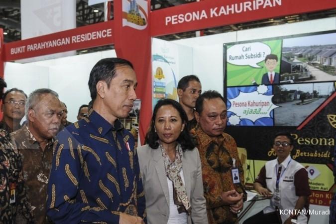 Jokowi sapa pendukung setianya di Kemayoran