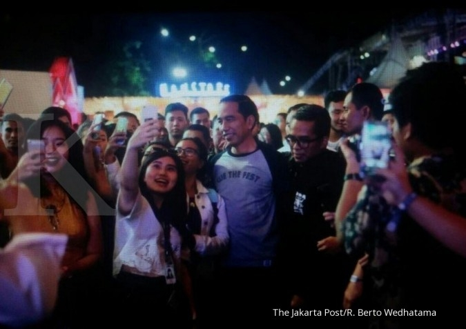 Jokowi joins 'We The Fest' crowd on Friday