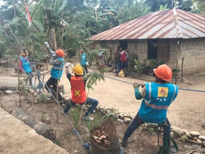 Proyek setrum di perbatasan Timor Leste