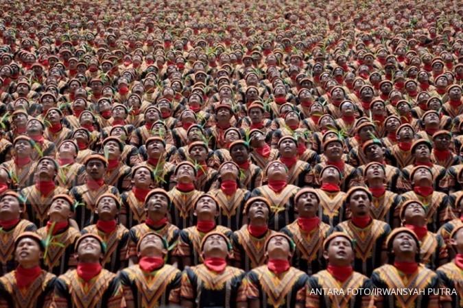 Rekor MURI, 12.262 orang menarikan Tari Saman