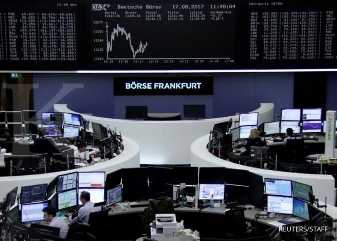 Pasar cemas, bursa Eropa dibuka memerah