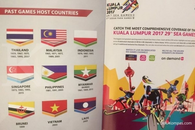 Bendera Indonesia terbalik di buku Sea Games