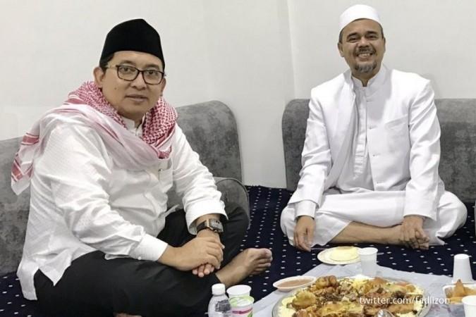 Fadli Zon berfoto makan nasi kebuli dengan Rizieq
